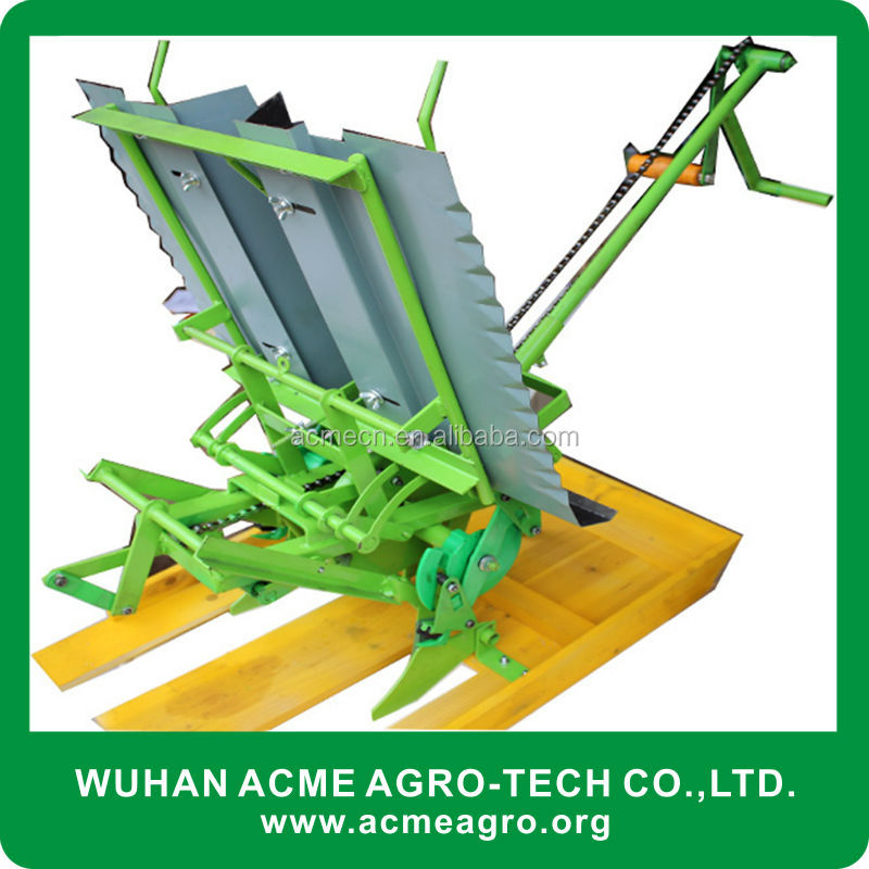 2 rows manual agriculture hand rice transplanter