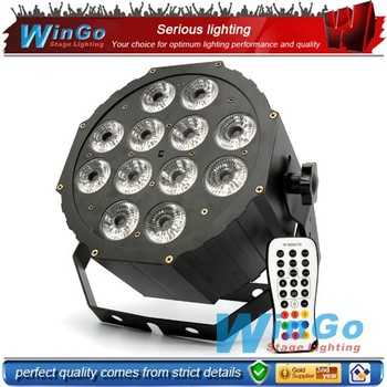 LED flat back par / 12 pcs 6 in 1RGBWA+UV infrared ray flat par