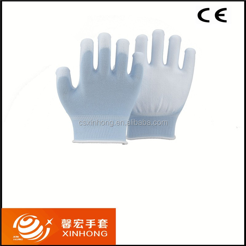 Nylon Safety Glove Finger Protection Touchscreen Gloves With Nails