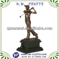 Resin Golf Figurine Statue Award And