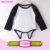 0-2 Years 100% Cotton Material blank infant rompers raglan multiple color sleeve plain Romper Product Type white baby onesie