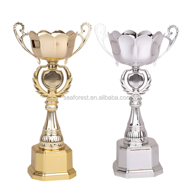 cheap plastic trophy cup, gold plated world cup soccer trophy awards