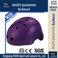 HE026K purple color outdoor safety ABS skat helmet with children use