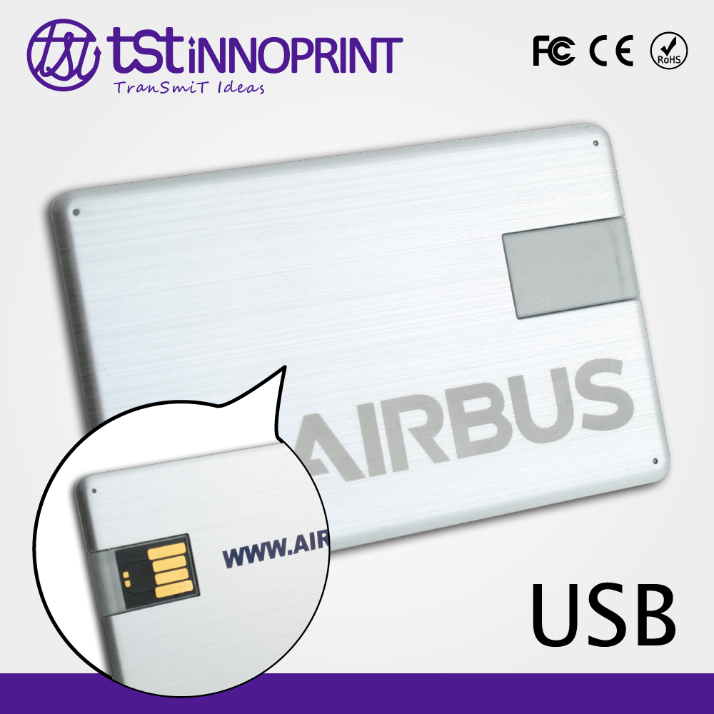 2016 wholesale Custom Print credit card USB Jump Drive