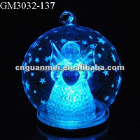 LED clear glass ball Christmas table gifts ideal