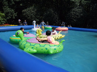 funny game water park inflatable adult electric bumper boat
