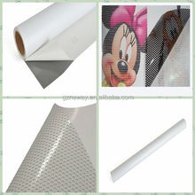 clear plastic self adheisve one way vision vinyl/vynil window film sheet roll sticker for outdoor advertising