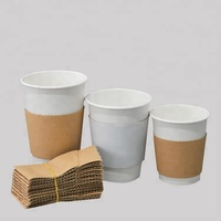 Corrugated kraft paper sleeves cover for coffee cup