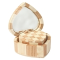 Wood factory handmade FSC unfinished heart shape wooden jewelry box