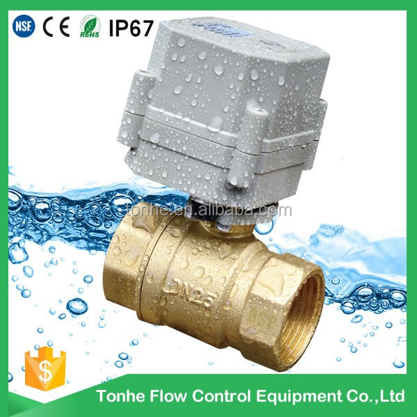 DN20 2 way normal close valve IP67 1 inch mini cwx-15n motorized electric ball valve