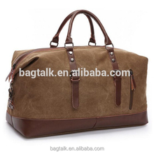TB0284 Canvas Shoulder Luggage Bag Folding Travel Bag