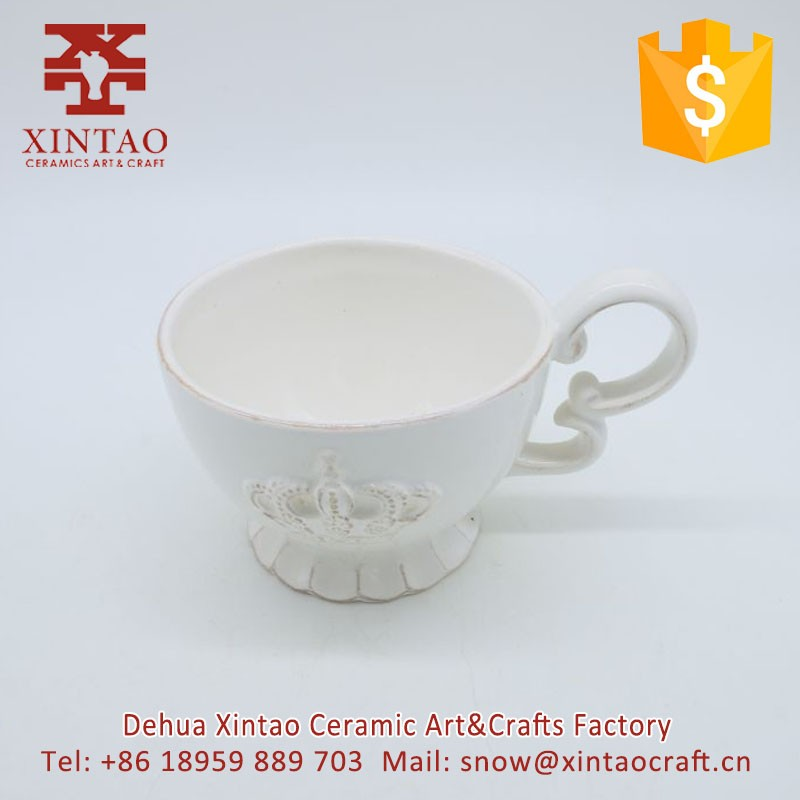 Wedding Gift Crown Ceramic Espresso Coffee Cup Porcelain Coffee Mug