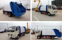 CLW good quality 4x2 dogfeng 3 tons mini garbage compactor truck