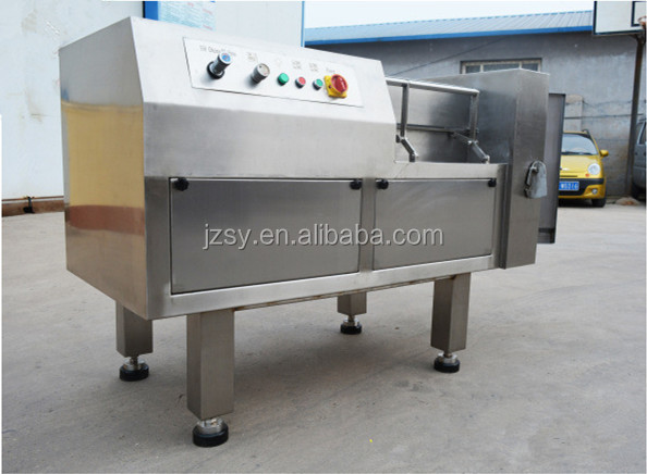 Wholesale Price commercial fully automatic frozen meat block cutter/Chicken breast meat dicing machine