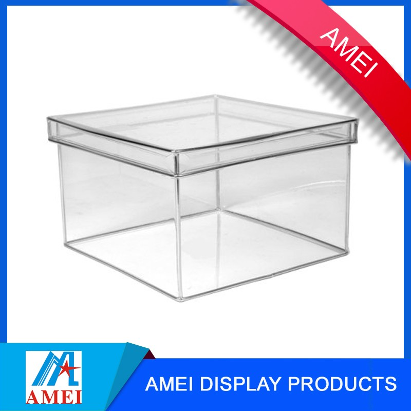 2017 hot-sale clear acrylic office stationary storage box for packing