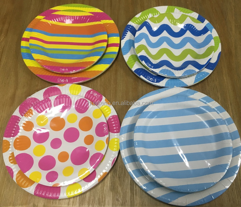 custom printed paper plates&cups/disposable dinner plate