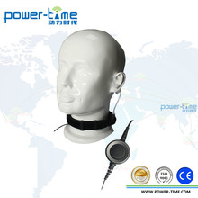 Military quality Air Conduit Earpiece Throat Mic Headset For Walkie Talkie / Two Way Radio