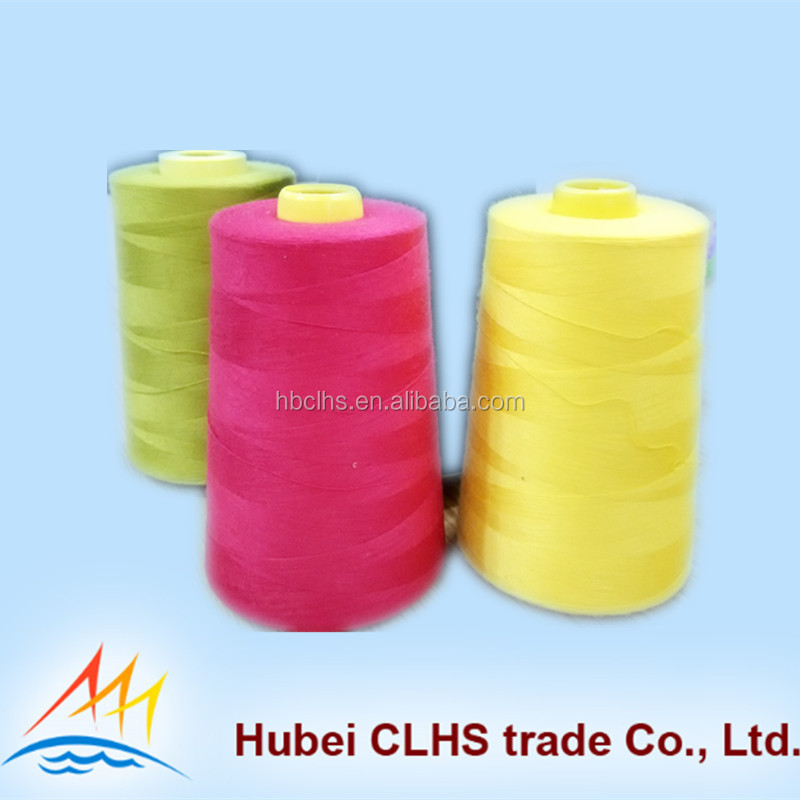 Anti-Bacteria /high tenacity polyester yarn 60s/2 60s/3 Polyester spun yarn Sewing Thread