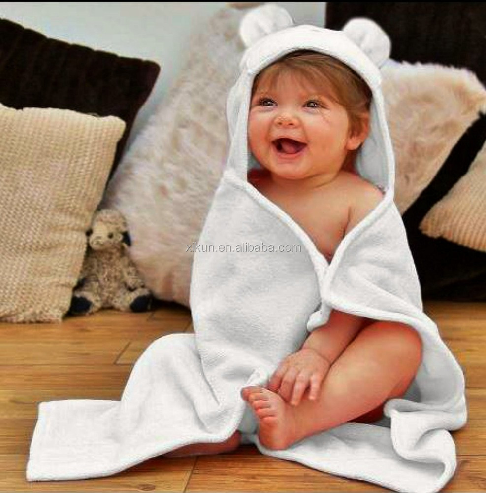 100% bamboo terry embroidery organic bamboo baby hood <strong>towel</strong>