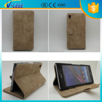 VCASE Luxury Fashion Leather Wallet Mobile Phone Case For SONY XPERIA Z2 Z1