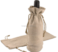 High quality wine bottle bag pattern cheap wine bags jute beer bottle bag for wine bottle