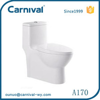 Bathroom sanitary ware siphonic one piece toilet A170