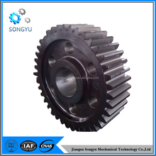 Custom machining forged steel spur gear wheel