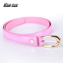 China supplier pu belt mutrans with canvas skinny snake skin belt for women