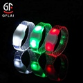 New Product 3 Modes PVC Light Up Led Bracelet