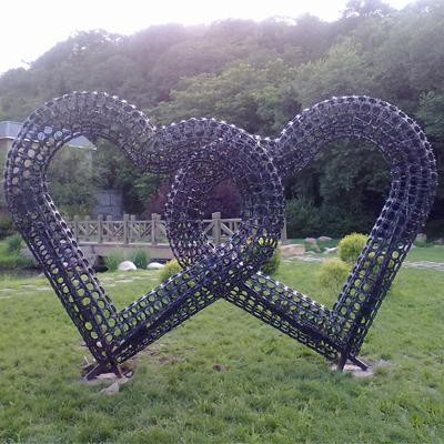Heart Flower tower planter vertical garden miracle garden Dubai