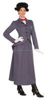 Ladies Victorian Nanny Mary Poppins Adult Fancy Dress Costume Womens Outfit AGC2475