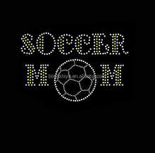 Bling Soccer Mom Rhinestone Transfers Design For Jersey