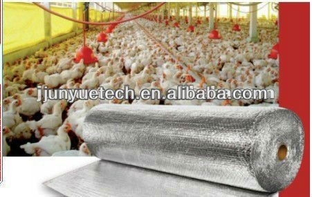 Roof insulation material for poultry house