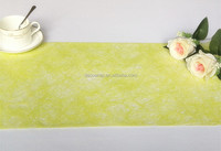 Lemon Yellow Long Fiber Nonwoven Table runner/Tablecloth/Non-woven Roll/Fresh Flower Wrapping Roll