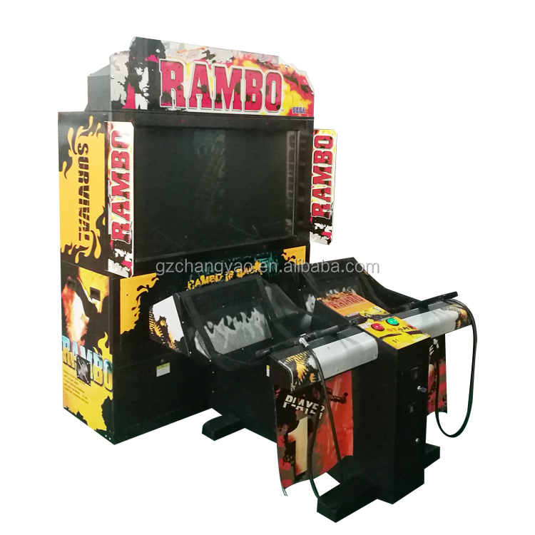 Newest Arcade Rambo Shooting 2 Player Gun Video Shooting Game Machine Supplier