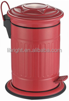 red color pedal bin of postbox shape