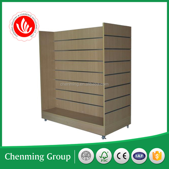 melamine slotted mdf panel display stand