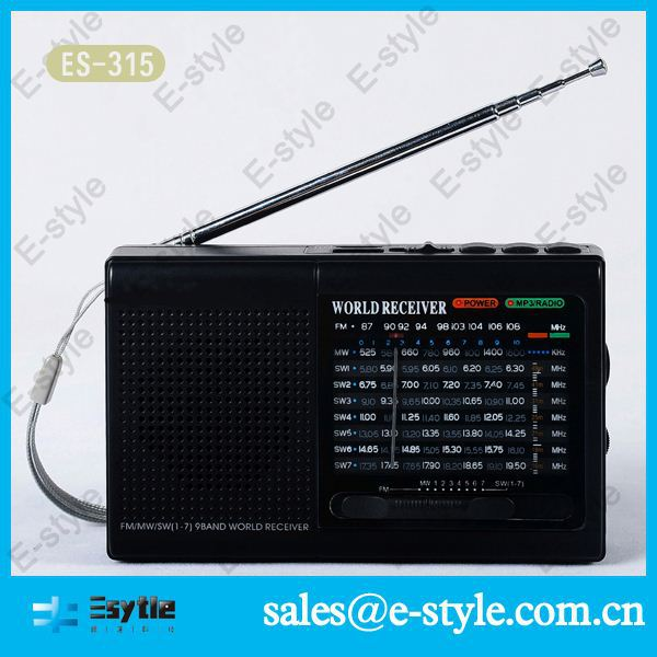 2014 New China hot sell clock radio with headphone jack with USB TF card slot