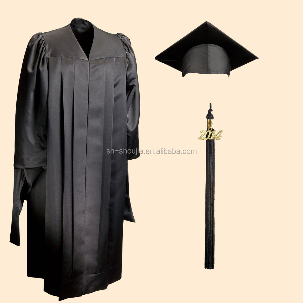 Customized best workmanship graduation gown and cap from Shanghai