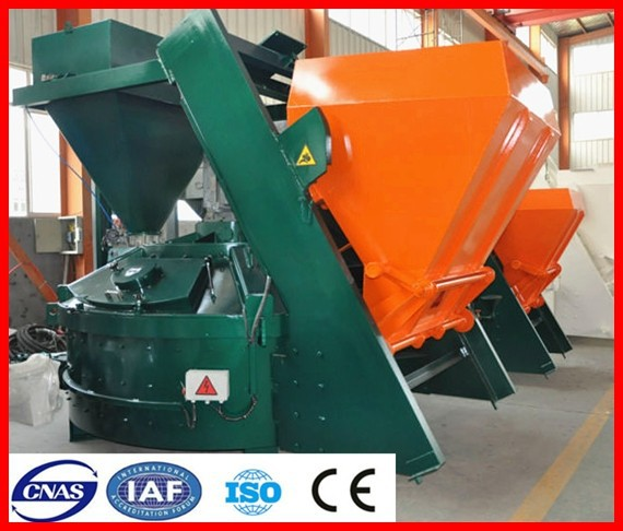 Bauma China Vertical Shaft Planetary mixer1 cubic meters concrete mixer machine with lift price