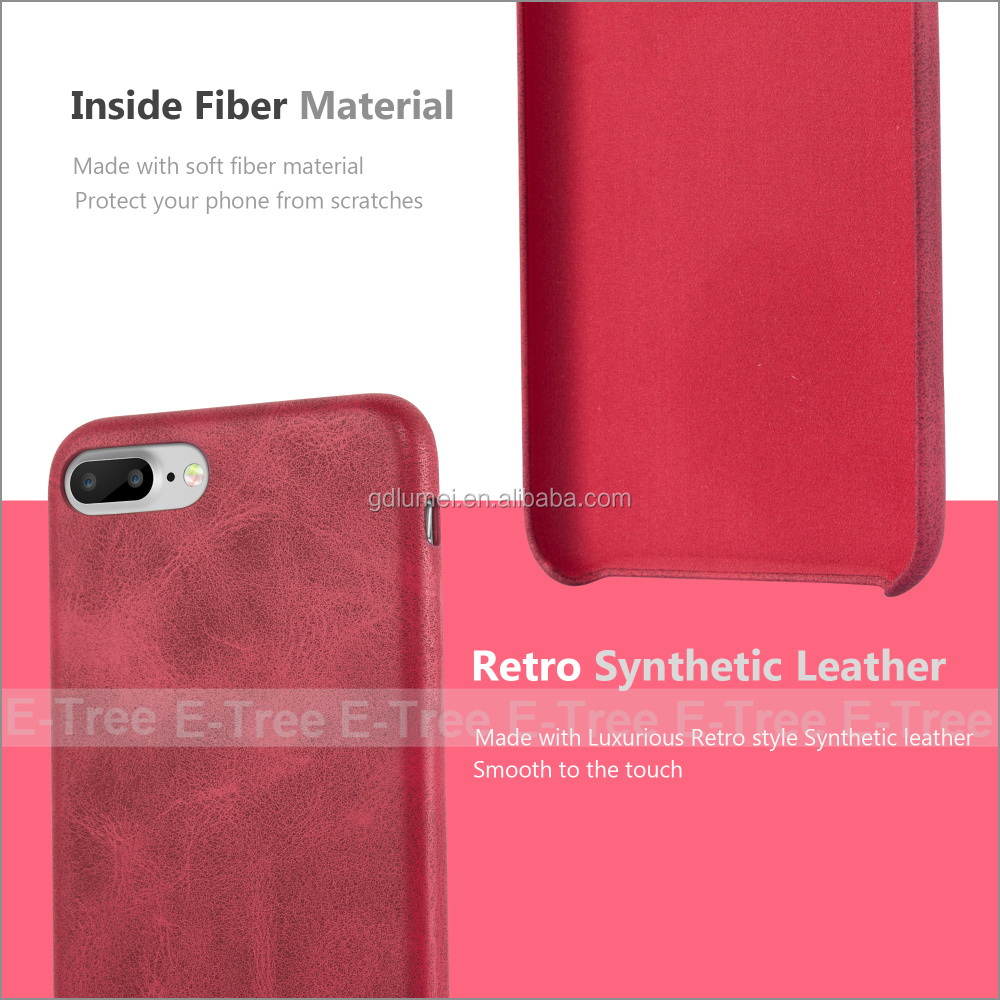 For apple iphone6 6 plus 7 7plus retro ultra slim leather case 2016 new fashion shockproof back cover