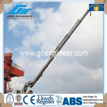 Knuckle and telescopic Boom bulk barge ship crane