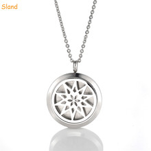 Trade assurance 30mm magnetic 316L stainless steel diffuser necklace locket aroma Pendant