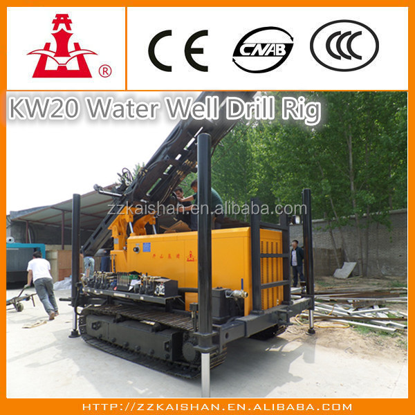 200m Depth KW20 Water well drilling machine/BoreWell Water Drilling Equipment for Sale