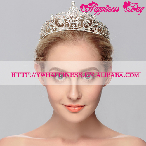 Wedding Bridal Tiara Rhinestone Crystal Crown Pageant Prom Hair Headband