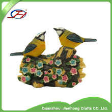 wholesale custom animal garden statues decorative resin bird figurines