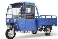 open body three wheel motorcycle for cargo with wind-cooled engine with half cabin