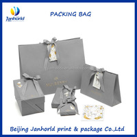 Hot stamping art paper offset printing boutique shopping paper bag