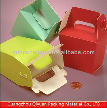 Wholesale Health cardboard cake packaging box with Die-cut Handle