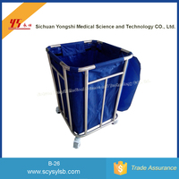 Stainless Steel Hospital Medical Laundry linen Bag Trolley for sale